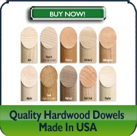 Quality Hardwood Dowels
